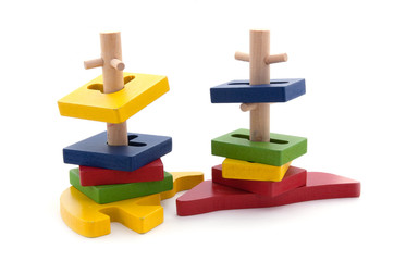 Colorful wooden domino toys for children advance learning an ima