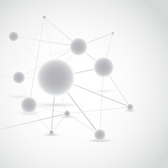Connected molecule modeling construction