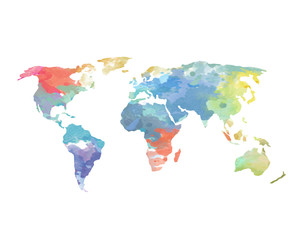 World map photos royalty free images graphics vectors videos watercolor world map poster gumiabroncs Gallery
