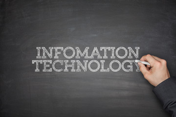 Information technology concept on blackboard