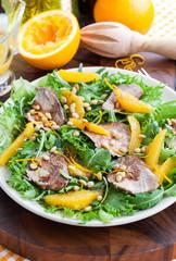 Duck breast and orange salad
