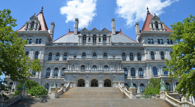 New York State Capitol in Albany, New York State, USA.