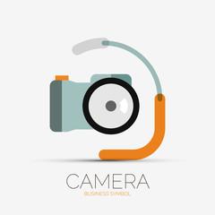 Camera company logo, minimal design