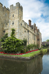 Hever castle and moat