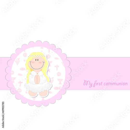 First Holy Communion Card Template Stock Image And Royalty Free