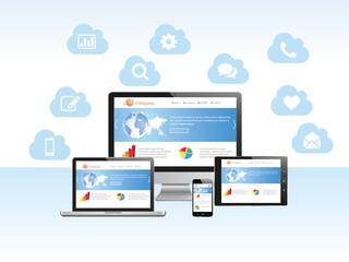 Cloud computing Responsive design