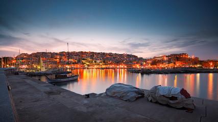 Pier in Mikrolimano marina in Piraeus, Athens.