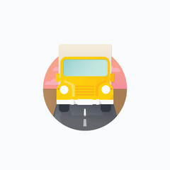 Vector icon in flat style - delivery