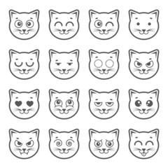 Cat faces.