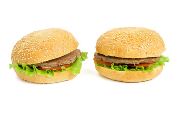 Two hamburgers