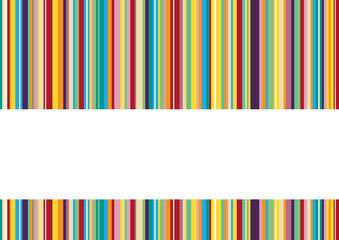 Hintergrund mit bunten Längsstreifen und weißem Textfeld