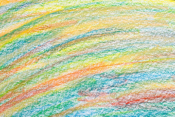 Colored pencil strokes on paper