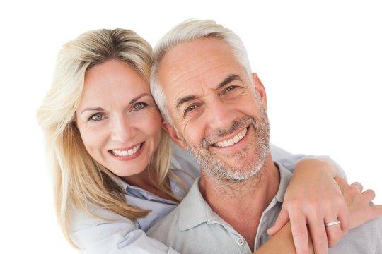 Close up portrait of happy mature couple