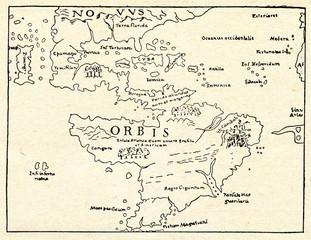 Earliest Separate Map of Americas (Sebastian Munster, 1540)