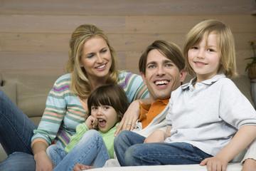 Family Portrait,lächelnd