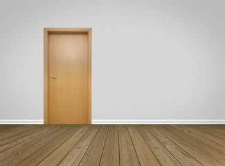 Empty Room / Wooden Floor with Door