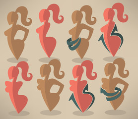 best body, beauty and diet symbols