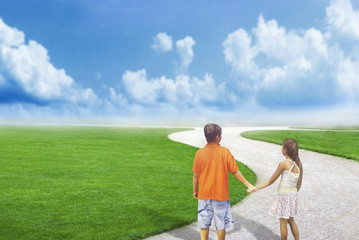 Kids love way future education choice background couple together