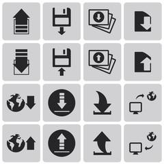 Download icon. Upload button. Load symbol. Set2. Vector Illustra