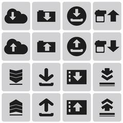 Download icon. Upload button. Load symbol. Set3. Vector Illustra