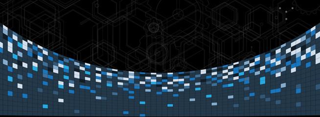 abstract futuristic circuit computer internet technology board b