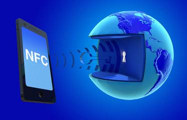 NFC. Near Field Communication.