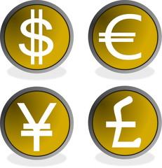 Botones divisas