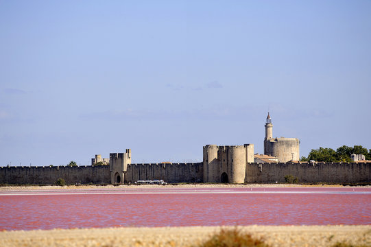 The ramparts of the walled city of Aigues-Mortes