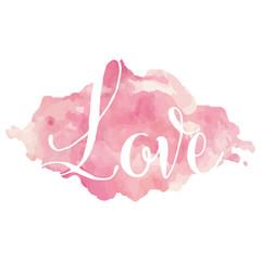 Love in watercolors