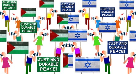 """Manifs """"Just and durable peace!"""""""