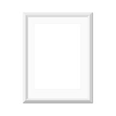 White picture frame, vector illustration