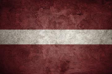 Latvia flag on the wall