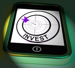 Invest Smartphone Displays Investors And Investing Money Online