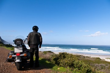 motorcyclist traveling in South Africa