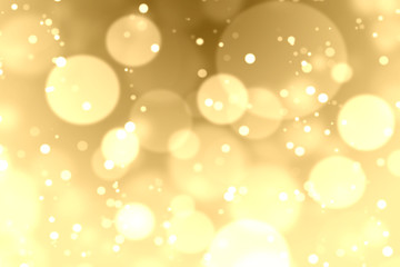 Gold bokeh and lighting background
