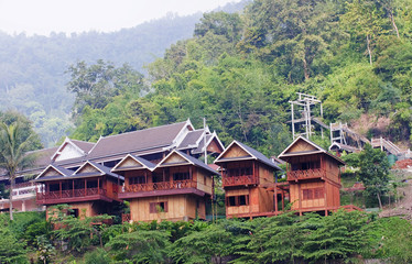 Bungalows In The Jungle In Laos