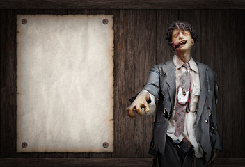 Undead Zombies and Dark Horror Background For Halloween Concept