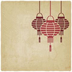 Chinese lantern old background