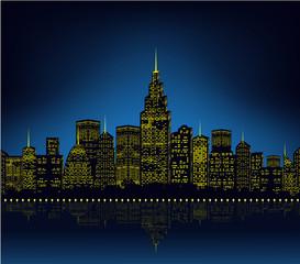 City lights, cityscape