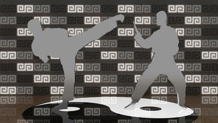 Karate Dojang grey
