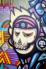 Graffiti skull mexicain