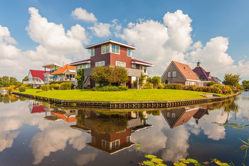 Contemporary villas in the province Friesland, The Netherlands