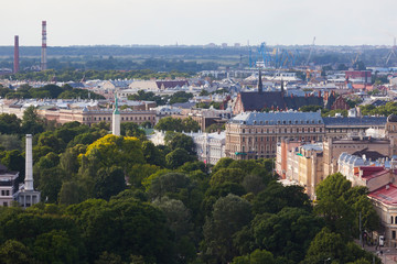 Beautiful view of the Riga old town