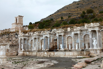Antonine Nymphaeum in Sagalassos Ancient City in Burdur.