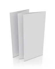 3d model of blank leaflet standing