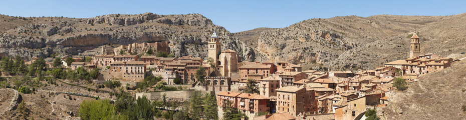 Picturesque town in Spain. Panoramic view. Albarracin.