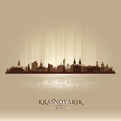 Krasnoyarsk Russia skyline city silhouette