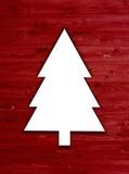 einfache weihnachtskarte umriss tannenbaum auf gelb stockfotos und lizenzfreie bilder auf. Black Bedroom Furniture Sets. Home Design Ideas