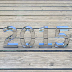 New year 2015 - 3d Render