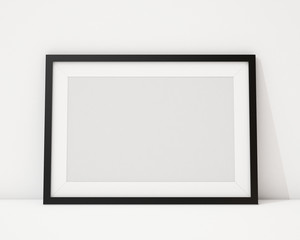 blank black horizontal picture frame